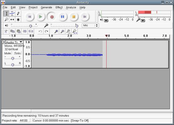 Audacity (programa de musica) - Programa gratis